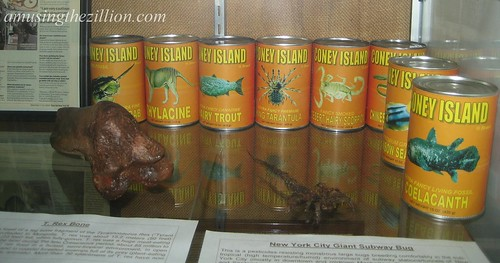 T Rex Bone, NYC Giant Subway Bug & Coney Island Fancy Canned Goods by Takeshi Yamada. Photo © Tricia Vita/me-myself-i via flickr