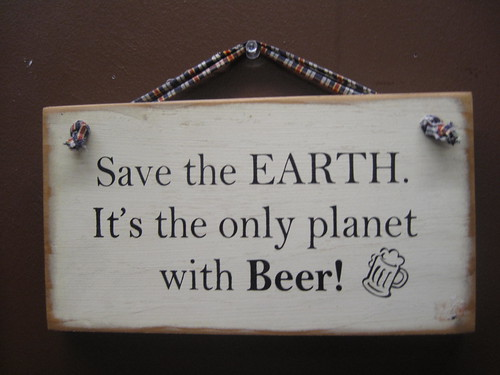 Save the planet sign at OakShire