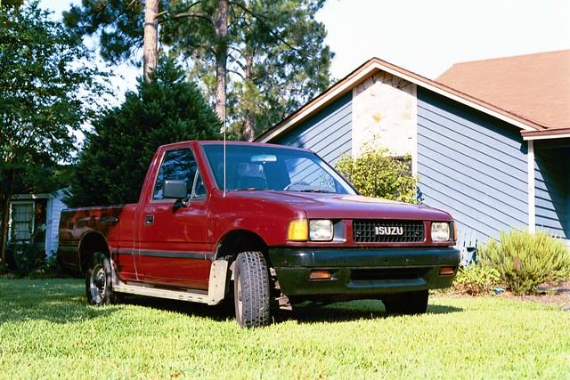 truck pup redtruck 000miles 1989isuzupickup165