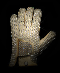Michael Jackson's Glove (noamgalai) Tags: nyc ny newyork auction mj 350 25 glove michaeljackson 1983 macau rhinestone legend moonwalk sparkling hardrock kingofpop billiejean motown 350000 oneglove noamgalai musicicons   motown25 firstglove siteabstract michaeljacksonsglove 350thousand ponte16resorthotel hoffmanma moonwalkglove