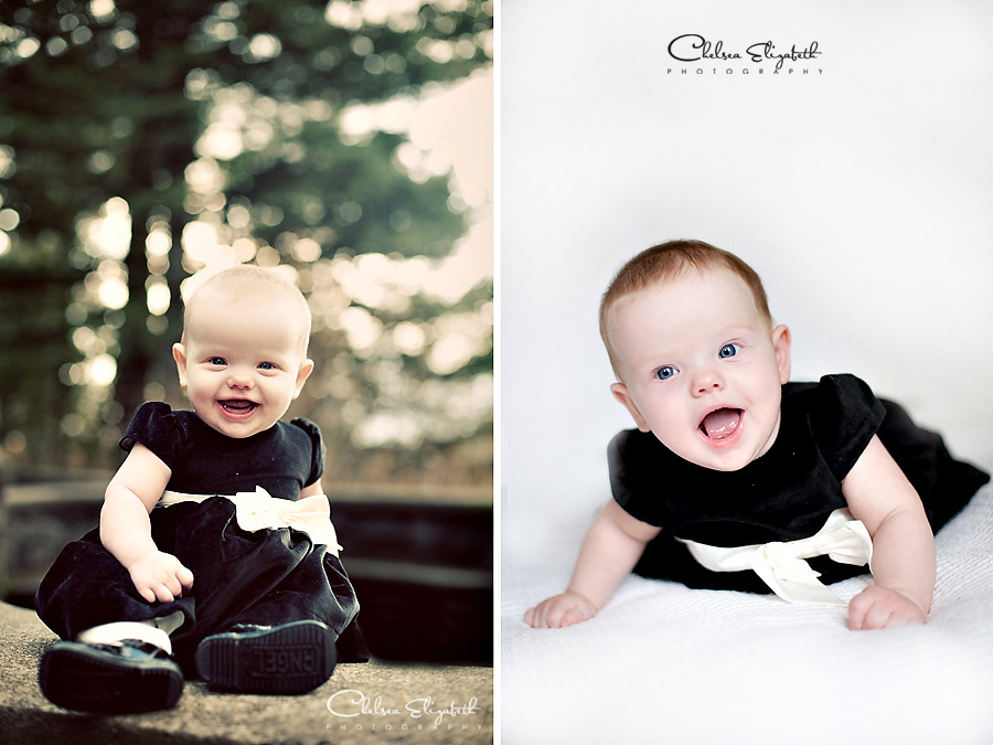 six month old baby portraits