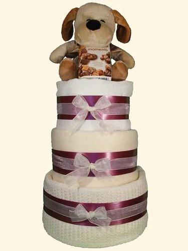 Neutral Luxury Baby Gift Cake (Nappy Cake)