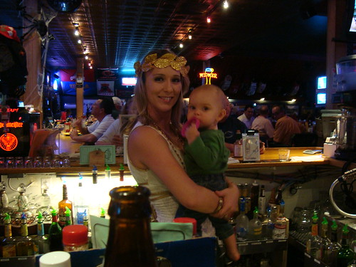 There's a baby in the bar