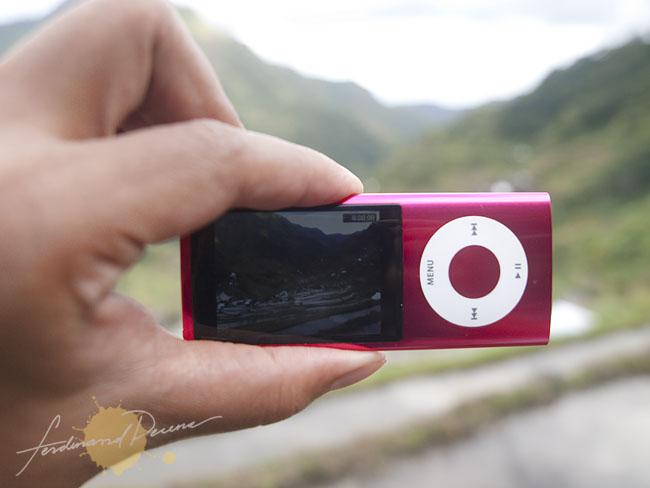 iPod Nano Shooting a Video