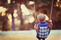 Swings ({jessica drossin}) Tags: park toddler dusk swings 2009 jessicadrossinphotography jessicadrossintexturepowder