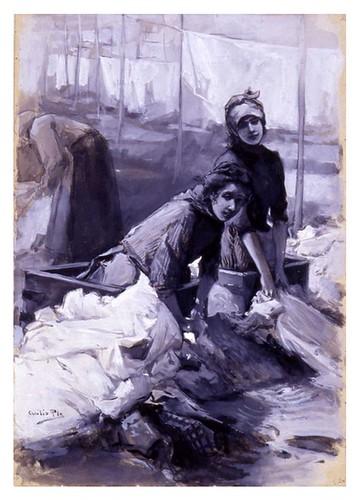 I.E.A. 30 DICIEMBRE 1897 - 2.º N.º XLVIII. Pág. 404. LAS NINFAS DEL MANZANARES- DIBUJO DE CECILIO PLÁ