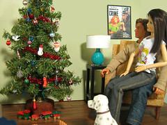 Christmas Party (smidge girl) Tags: christmas holidays doll barbie christmastree actionfigures diorama sixthscale