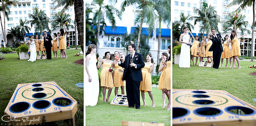 Corn Hole Wedding party game