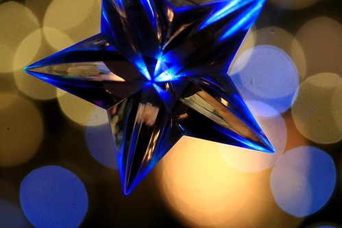 blue christmas bokeh