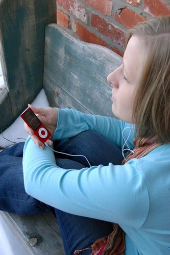 listening to my ipod