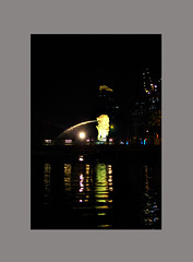 Merlion (deolandicho) Tags: city urban architecture digital buildings singapore landmark icon boatquay clarkequay singaporenight iconicsymbol k10d singaporenightscene iconiclandmark deolandicho