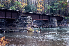 Catskill Mountain Railroad Bridge C-30 - Boiceville, NY (DWHonan) Tags: railroad bridge mountain fish abandoned creek train plane fly fishing fisherman track failure rail railway trains structure crack delaware trout structural railroads ulster catskill shear esopus cmrr