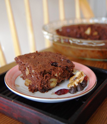 Artful Food: Whole Wheat Walnut Cranberry Brownies