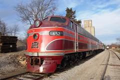 Chicago, Rock Island & Pacific Railroad  No. 652 (E8), Kansas, Baldwin City (4,116) (EC Leatherberry) Tags: chicagorockislandpacificrr kansas e8 locomotive excursiontrain therockisland douglascounty railroad 1942