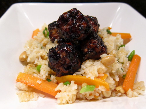 14 - Asian Meatballs Over Peanut Fried Rice