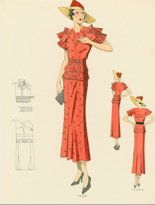 1930s Fashion Plate from NYPL