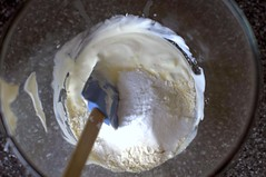 mixing the batter