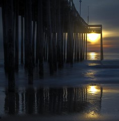 oc pier (M Zappano) Tags: ocean winter sea sun sunrise canon pier md sand maryland easternshore atlantic shore inlet oceancity oc seashore delmarva easternshoreofmaryland