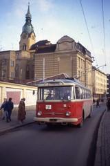 Skoda 9Tr Trolejbus nr 3136, Linka 131 ,Brno 1992