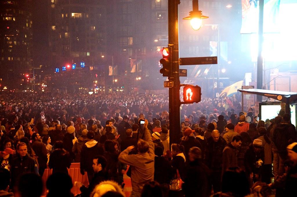 Large Crowd at David Lam Park