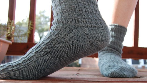 Birthday socks, heel detail