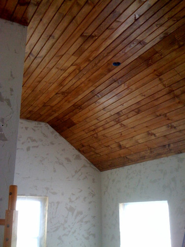Our Urban Bungalow Wood Plank Ceilings