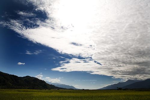 已經越過縱谷中線的雲層