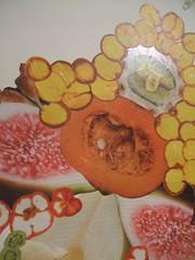 erotic fruitcollage3 (rachaelrayforever) Tags: winter art vegetables collage sex fruit flesh pumpkin erotic pears cut glue squash figs leafygreens eroticfruitcollage ladygaganyc