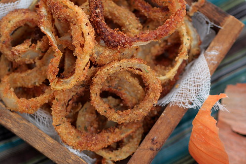 home made onion rings
