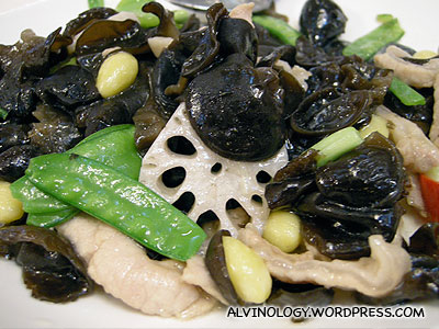 Black fungus with meat and veggies
