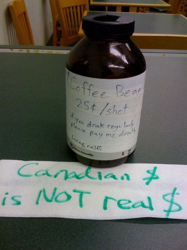 Canadian $ is NOT real $