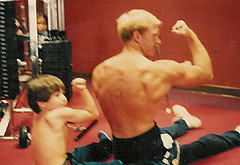 Kevin-making-muscles-with-son-Steven-2- (KevinSaunders7) Tags: sports president explosion possible chairman obama nominees paralympics nominee motivationalspeaker paralympian nominated rolemodel kevinsaunders wheelchairathlete overcomingadversity businessspeaker schoolspeaker corporatespeaker christianspeaker motivationalcoach presidentsfitnesscouncil yeasyoucan wheelchairspeaker associationsspeaker inspirationalathlete famousdisabledathlete safetyspeaker corporatesafetyspeaker worldchampionwheelchairathlete fitnesscouncil chairmanoffitnesscouncil possiblenominees choicesforpresident considerationsforchairman presidentscouncilonphysicalfitnesssports presidentsselectionsforfitnesscouncil obamasfitnesscouncil