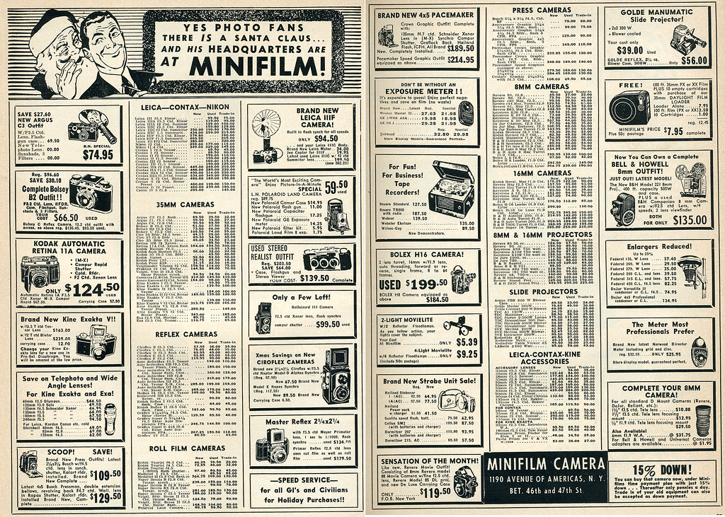 Dec 1952 Minifilm mail order ad