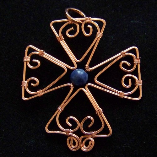 Copper and sodalite cross