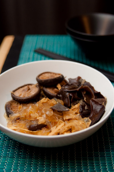 Chinese mushrooms with cellophane noodles