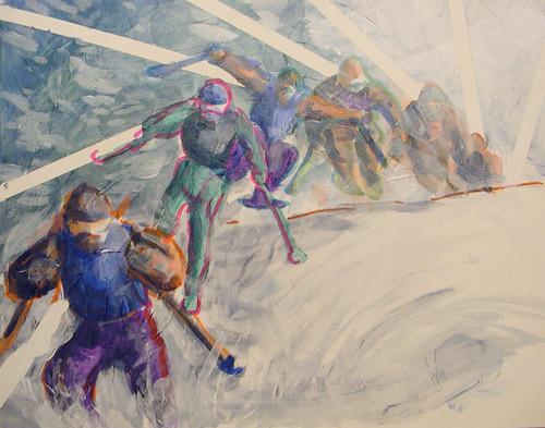 Acrylic Ski Painting
