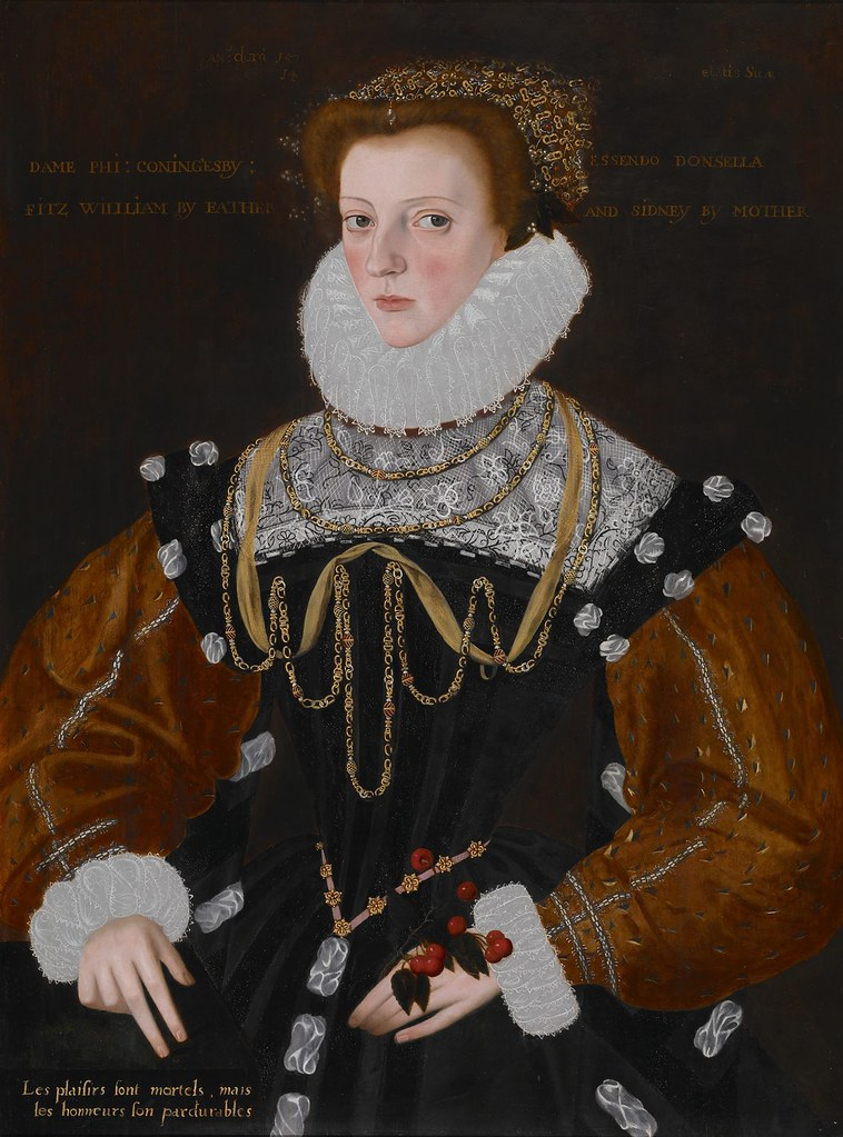 Gower, George (1540c.-1596) - 1578 Lady Philippa Coningsby (Indianapolis Museum of Art, U.S.A.)