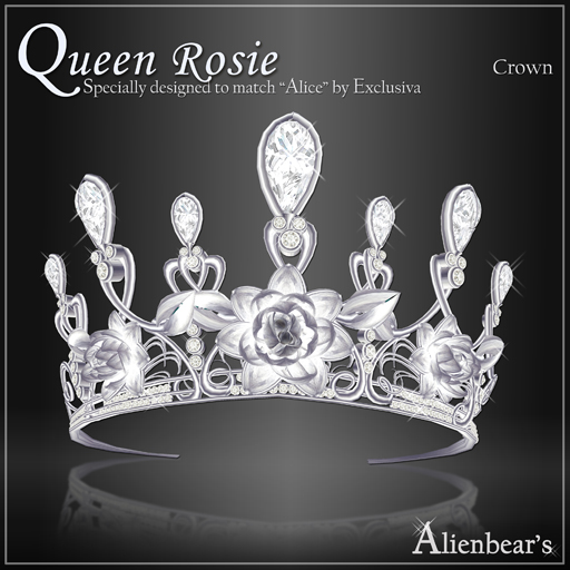 Queen Rosie Crown white