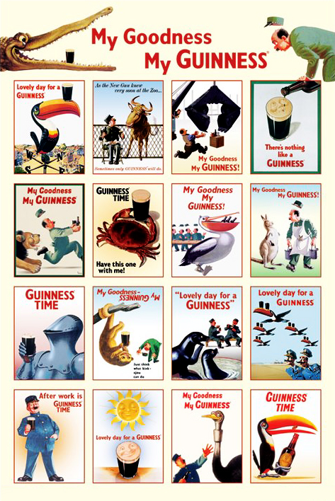 Guinness Poster Collage