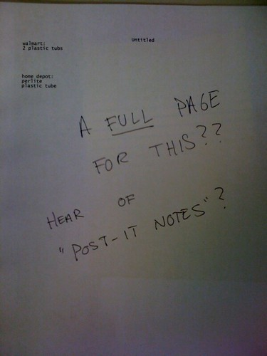 A FULL PAGE FOR THIS?? HEAR OF 'POST-IT NOTES'?