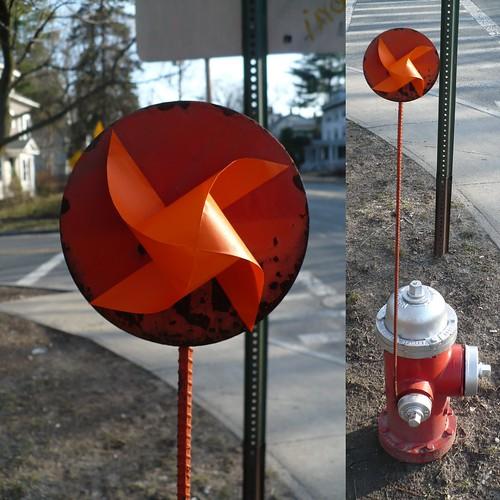 Fire Hydrant Pinwheel