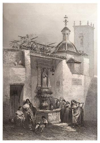 002-Alicante-Fuente de Santa Maria-Voyage pittoresque en Espagne et en Portugal 1852- Emile Bégin