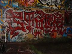 B-NINJA (manneedsknowledge) Tags: seattle wall graffiti power stop pow bomb sodo fill stopper throwup handstyles omf sike handstyle mnk powr throwie tlk kove stoper stopr