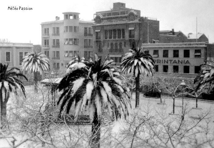 chute de neige à Sidi Bel Abbès les 1 et 2 février 1954
