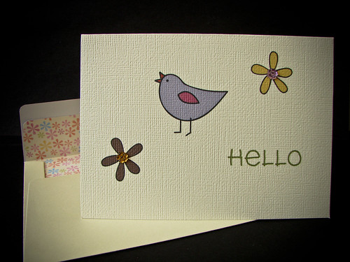 HELLO Card (1 Bird)