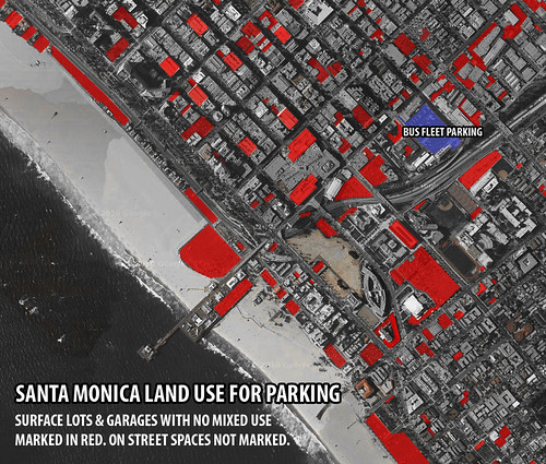 Land used for parking in Santa Monica