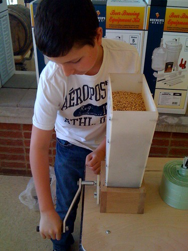 Brew Day Prep: Bean crushing the grain
