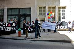 IMG_3390.jpg (riekhavoc) Tags: philadelphia balloons check aids hiv activist aprilfools actup aprilfool publishersclearinghouse