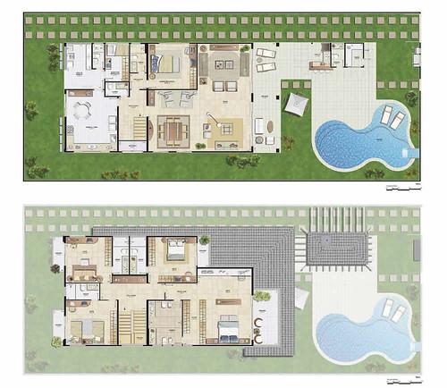 casas com piscina plantas