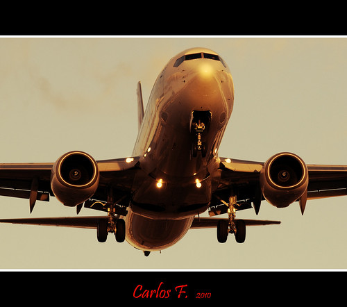 B737-800 at sunset